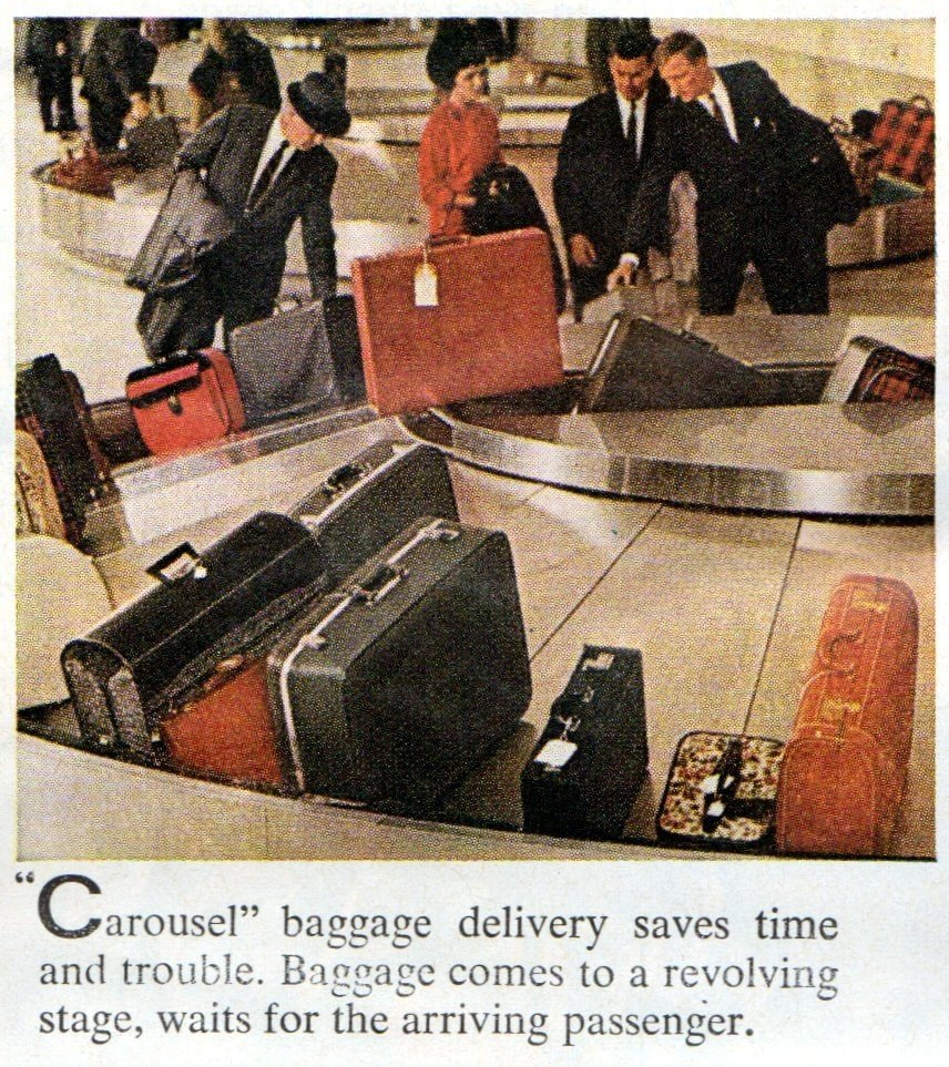 The new airport baggage carousel (1963)