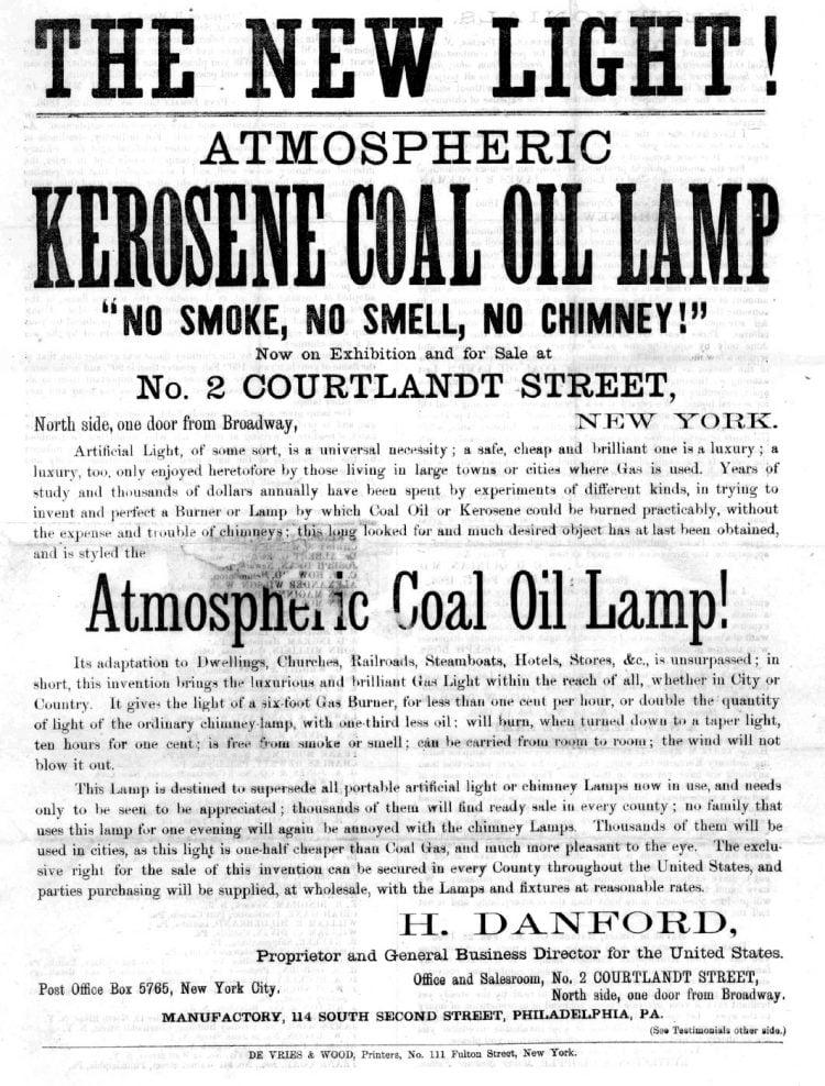 The new light - Atmospheric kerosene coal oil lamp - Danford 1866 - LOC