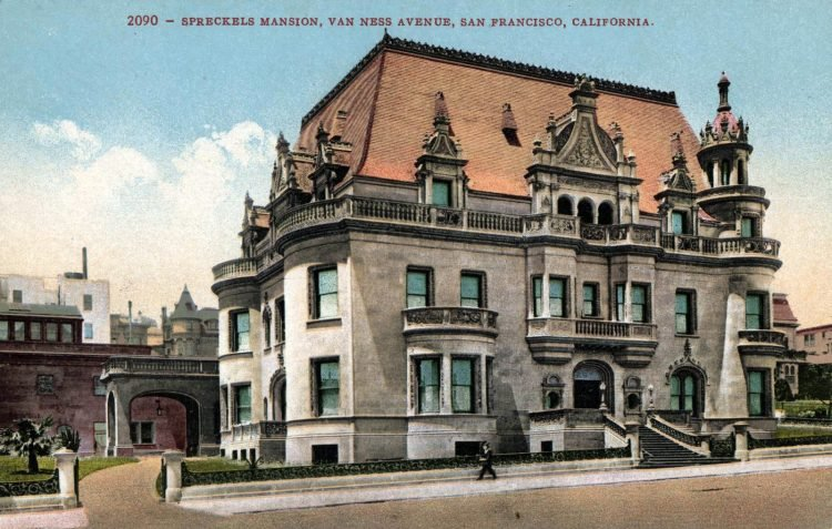 The new mansion home of Claus Spreckels (1897)
