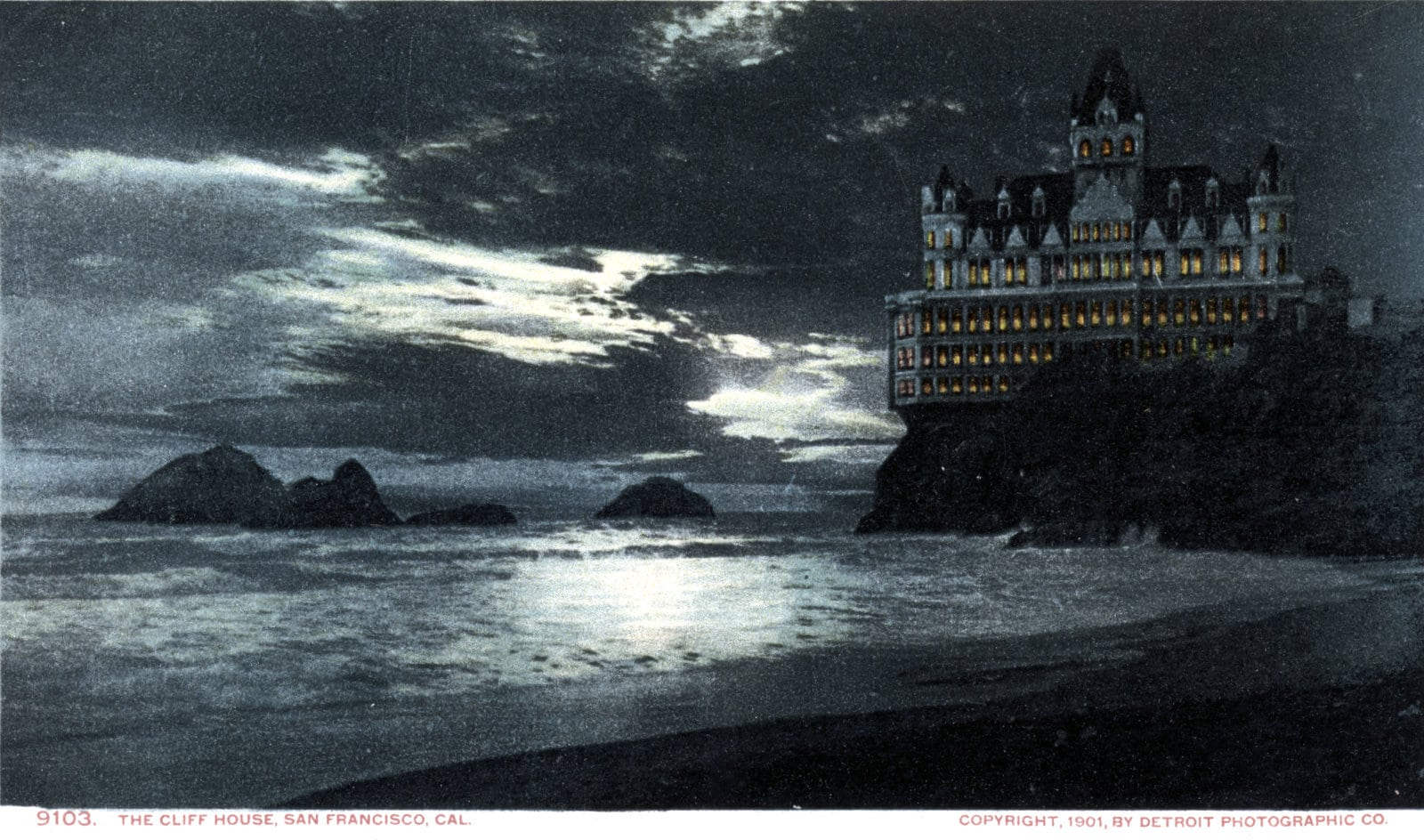 The old Cliff House at night (c1900)