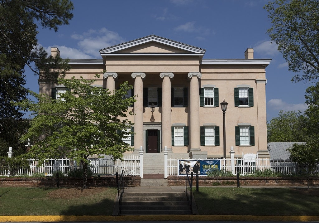 The old Governor's Mansion in Milledgeville, the capital of Georgia from 1804 to 1868, notably during the American Civil War