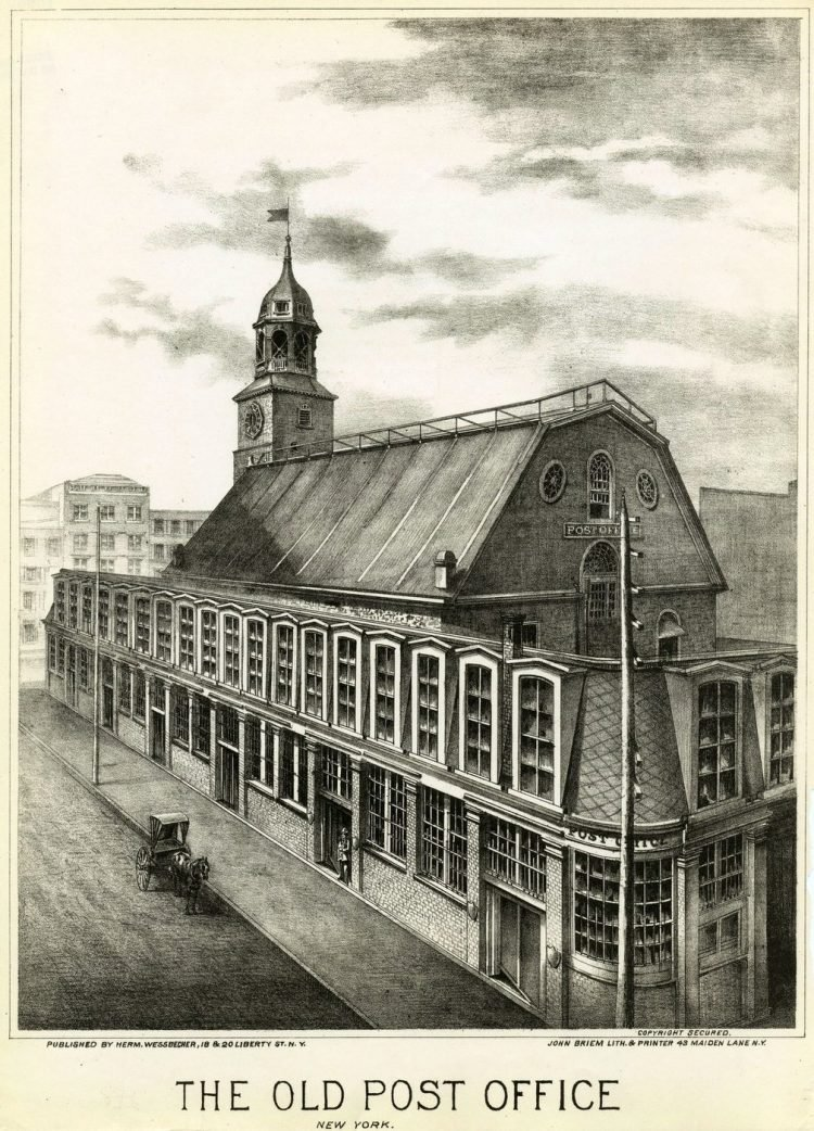 The old post office New York 1800s