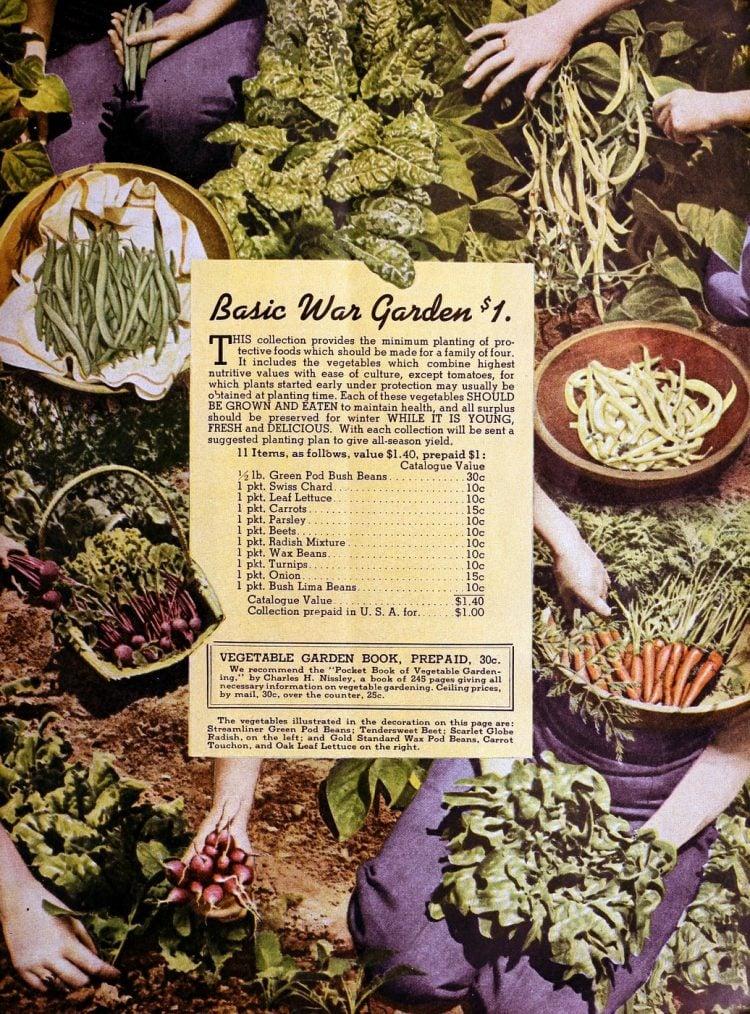The one dollar basic war garden essentials - 1940s