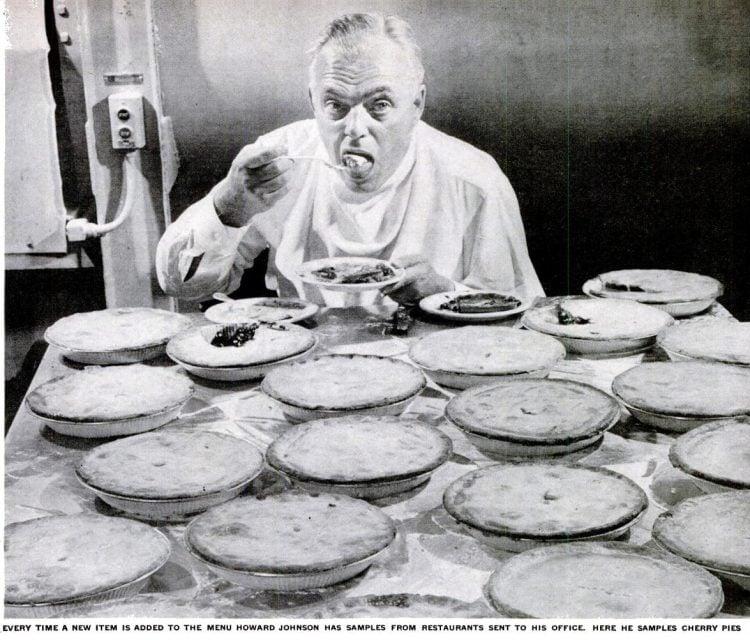 The original Howard Johnson tastes pies - 1948