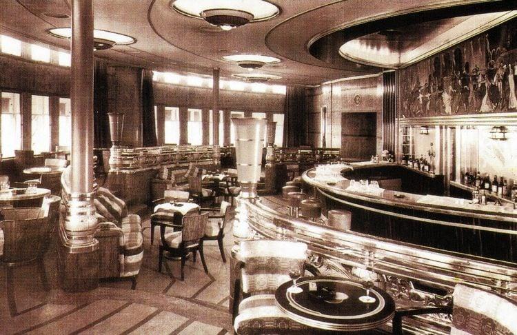 The original Queen Mary ship interior 1936