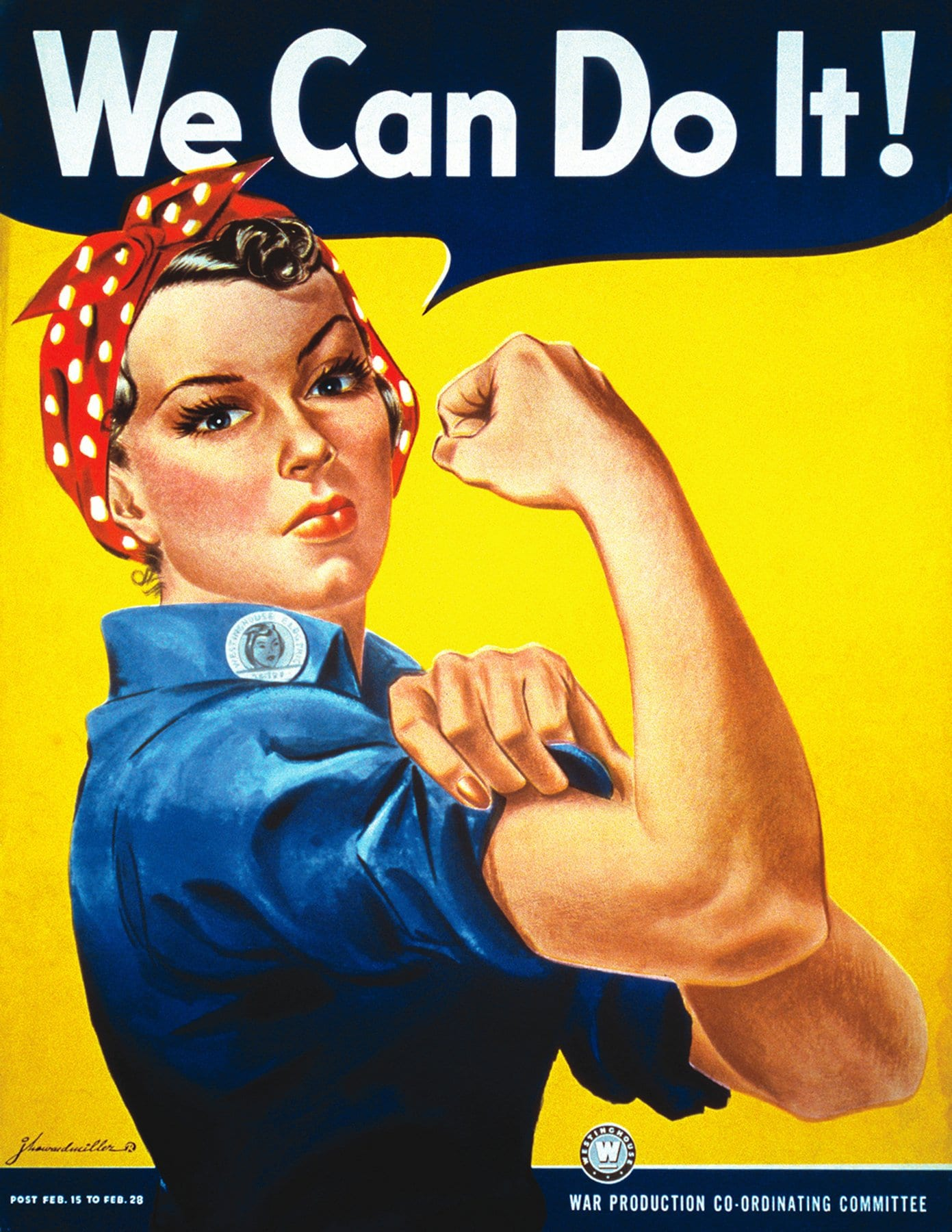 The original Rosie the Riveter 'We can do it' poster from WWII