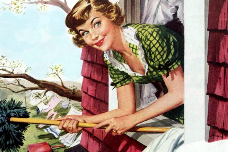 The perfect 50s housewife Cleaning your home
