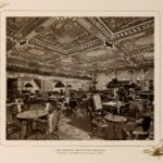 The reading room at the Waldorf Hotel in 1903