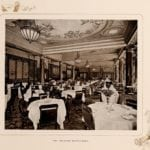 The restaurant at New York City's Waldorf Hotel in 1903