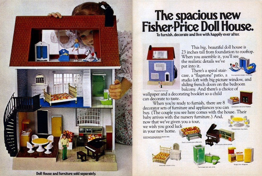 The spacious Fisher Price Doll House