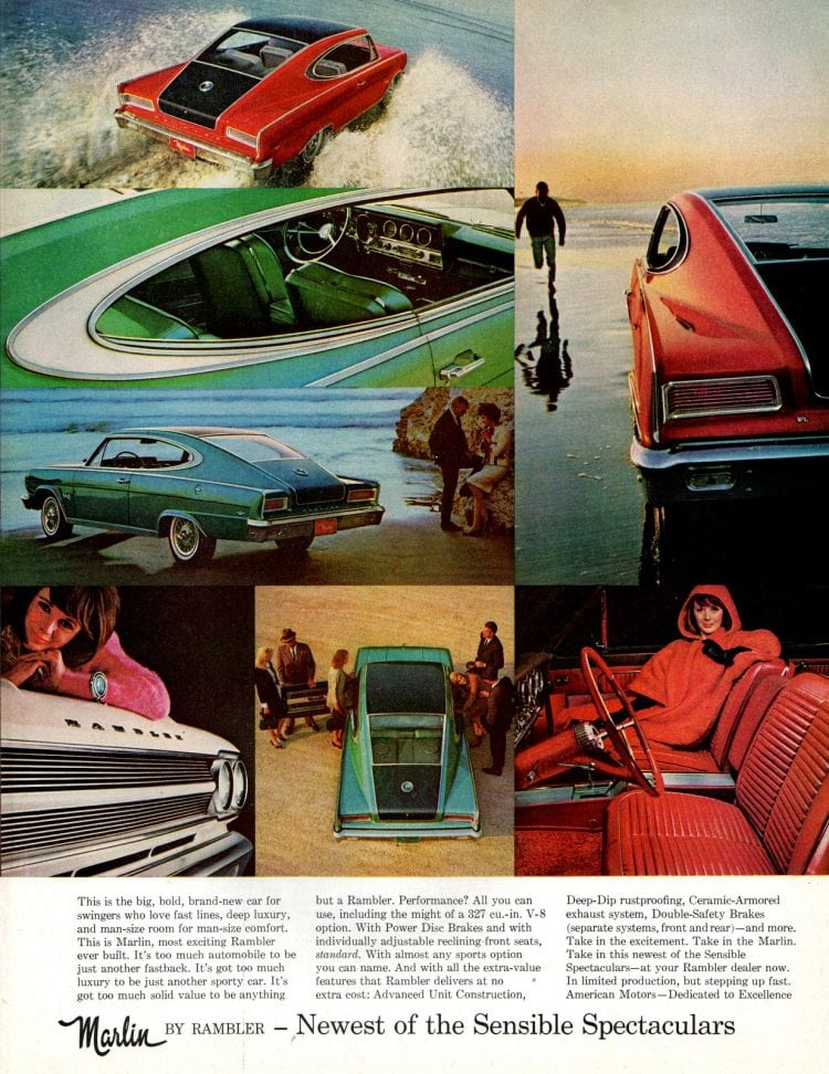 The swinging new man-size sports fastback Marlin (1965)