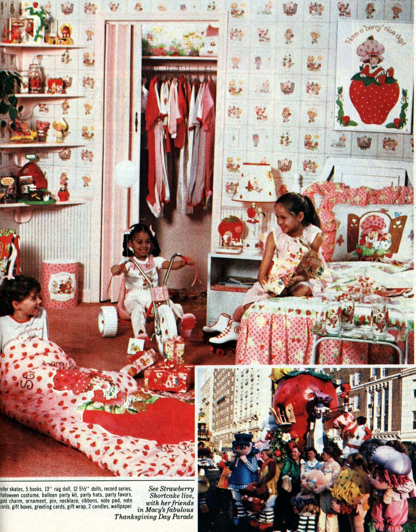 See the ultimate over the top Strawberry Shortcake bedroom makeover from 1982 (1)