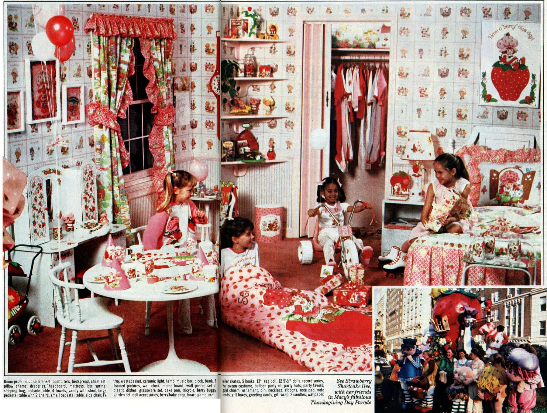 The ultimate over-the-top Strawberry Shortcake room makeover