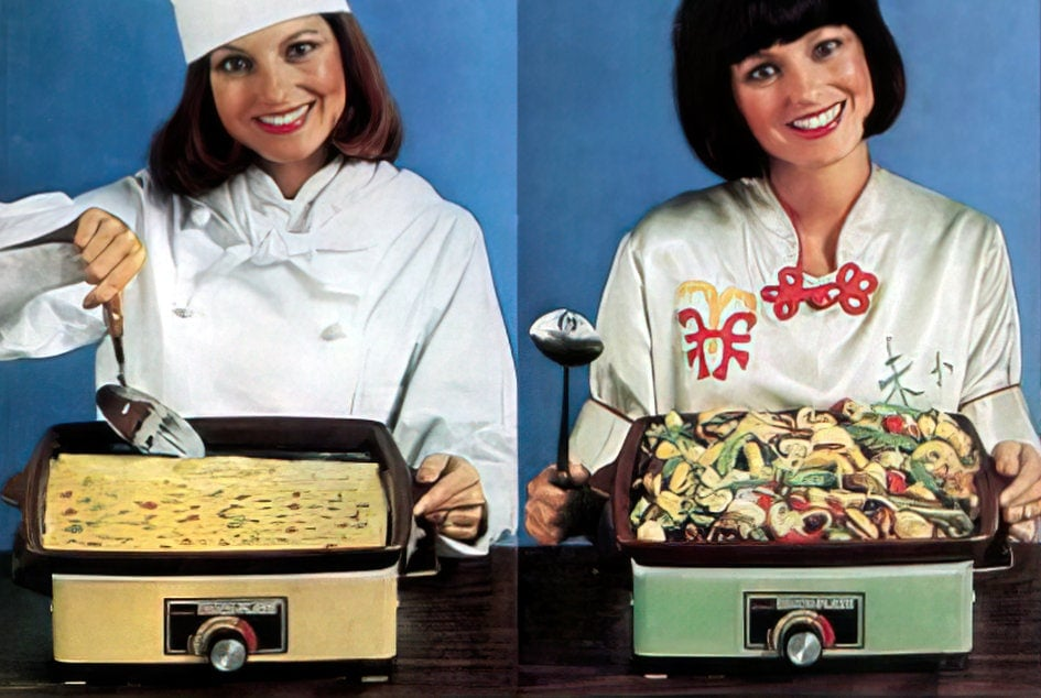 The vintage Rival Crock-Plate multi-purpose cooker (1977)