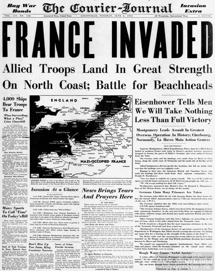 Allied Troops Land in Great Strength on North Coast; Battle for Beachheads