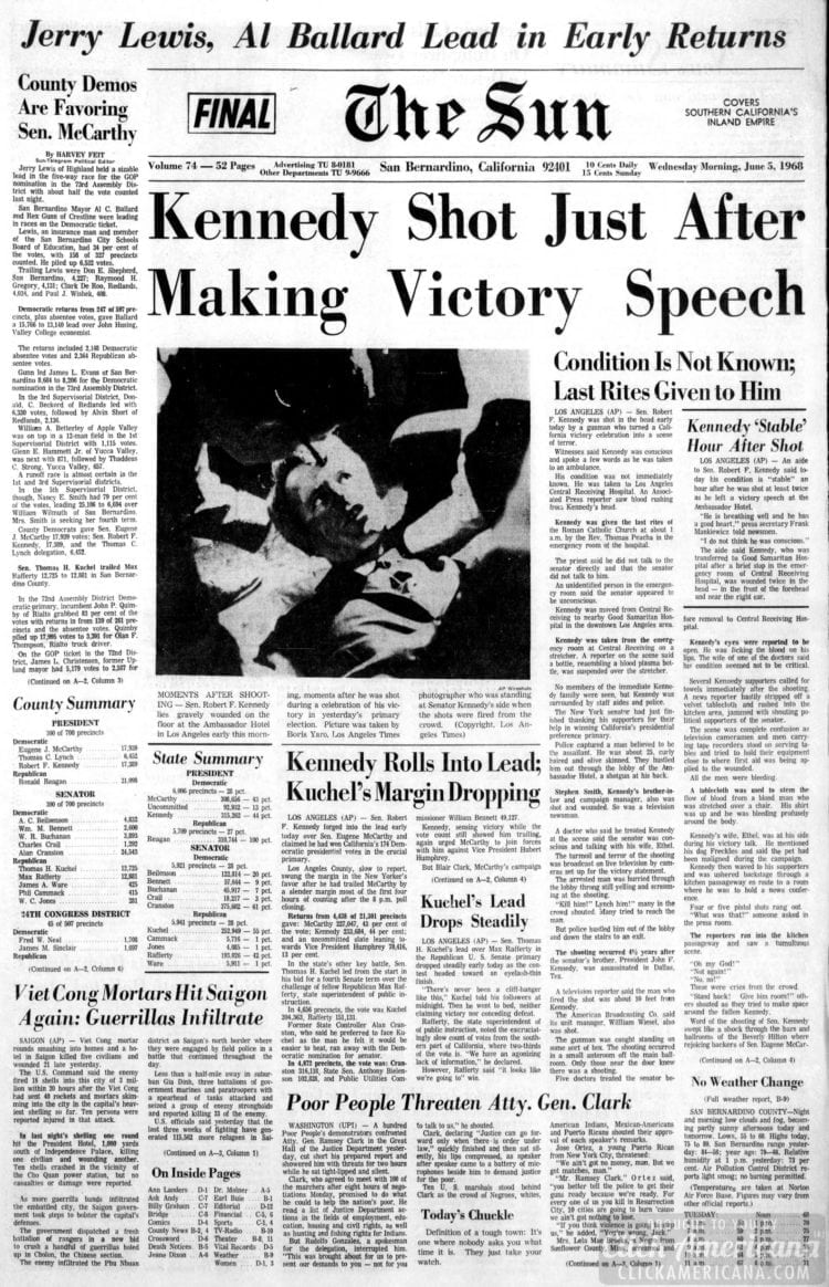 The_San_Bernardino_County_Sun - RFK shot June 5 1968