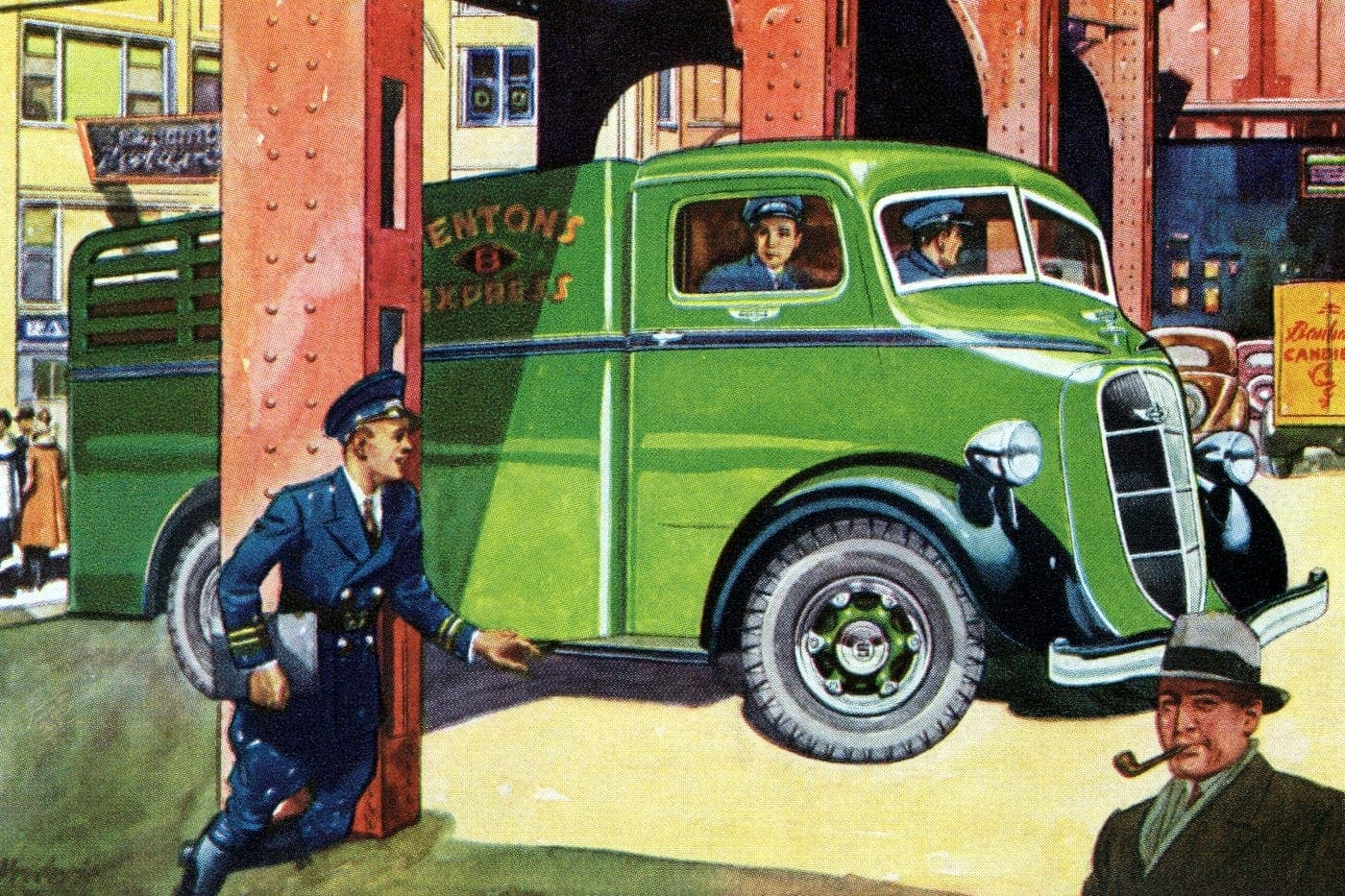 These classic Studebaker delivery trucks from the 30s got around
