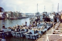These landing craft landed U.S. troops on Omaha Beach