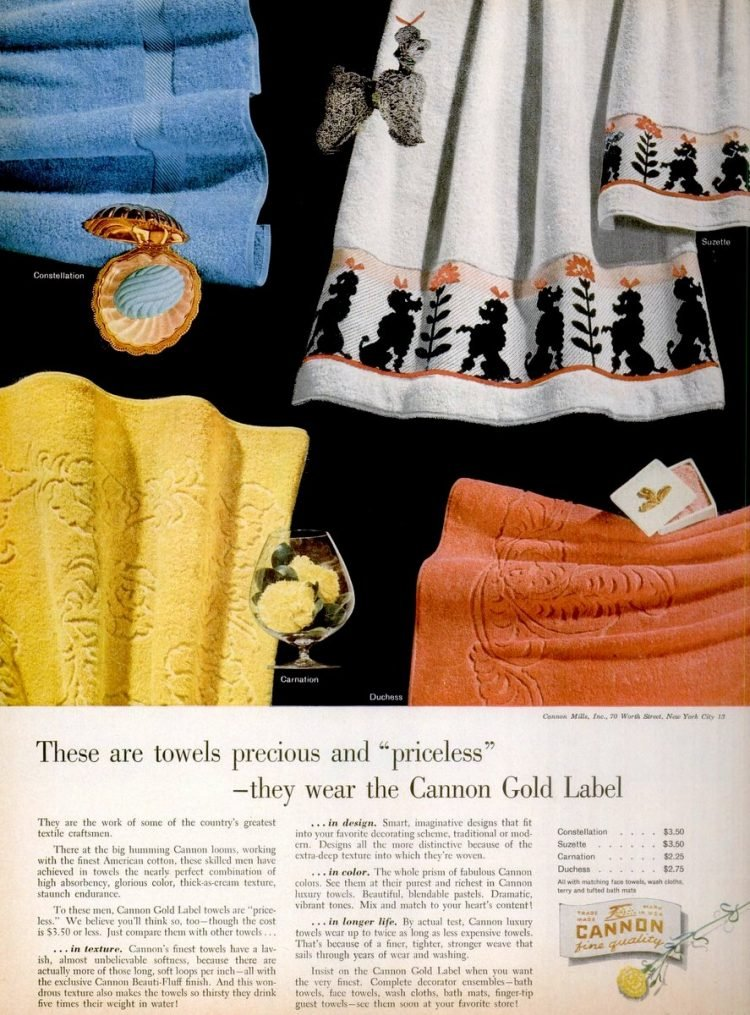 These towels are precious and priceless (1953)