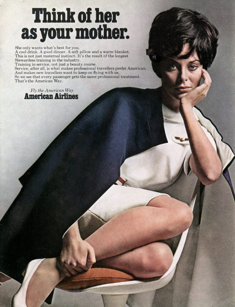 Think of her as your mother - Vintage ad from American Airlines