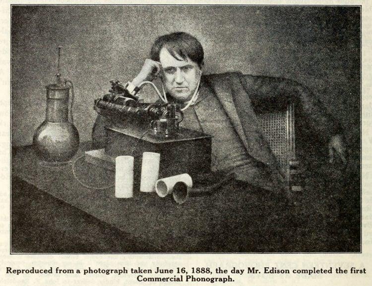 Thomas Edison and the phonograph c1907 (4)