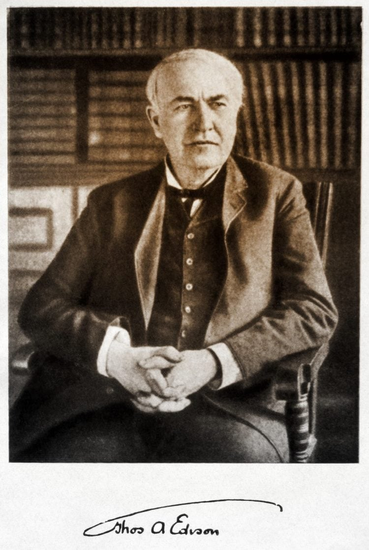 Thomas Edison in 1915