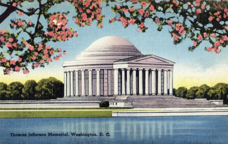 Thomas Jefferson Memorial, Washington, DC vintage postcard