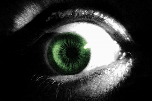 Thorazine eye up close