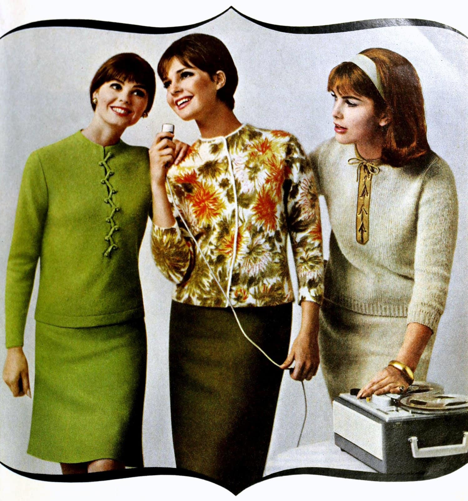 Three vintage sweater styles for the office (1965)