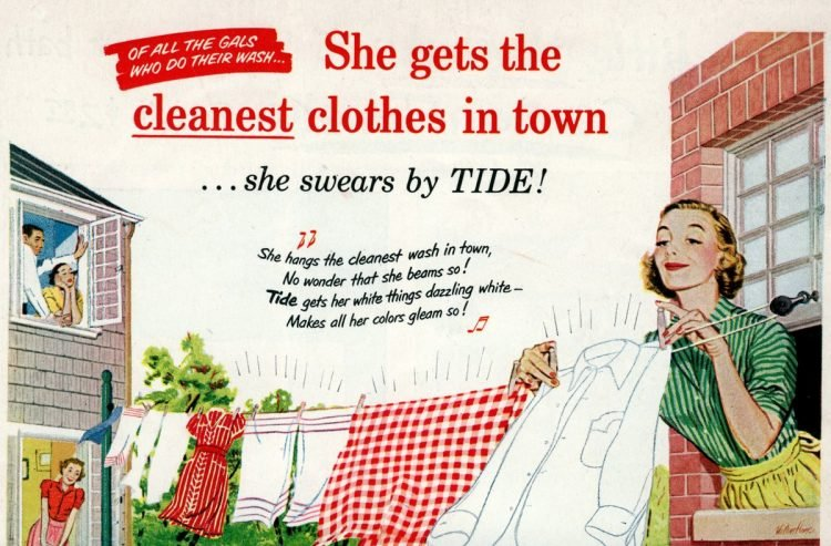 Tide - Cleanest clothes in town - 1952