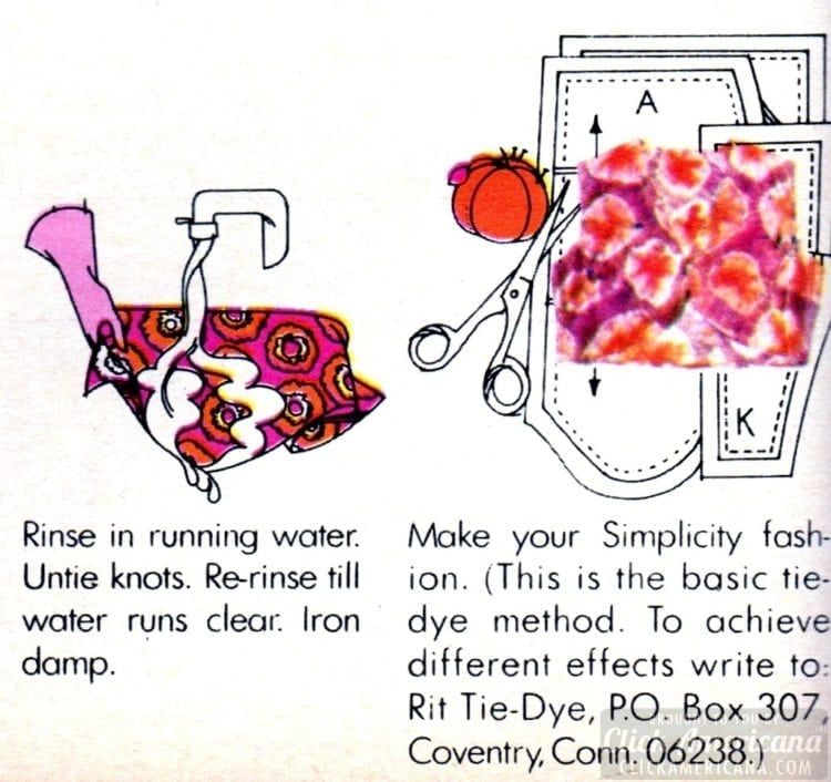 Tie dye how-to for satin