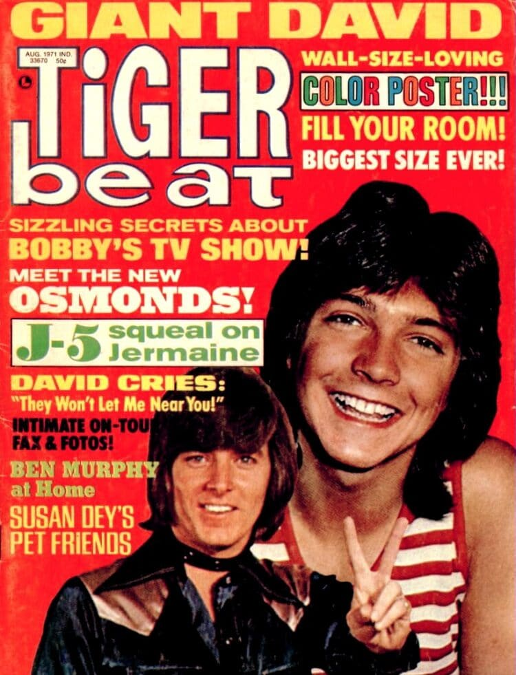 Tiger Beat 1971 magazine with David Cassidy