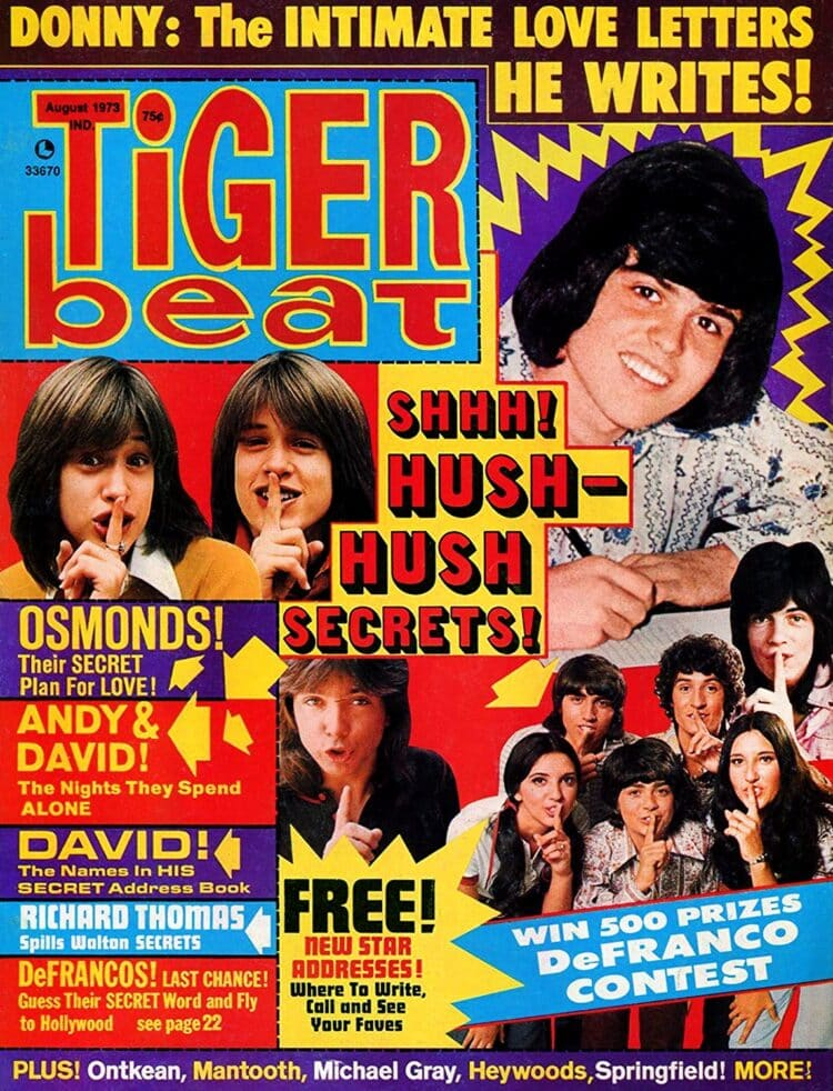 Tiger Beat August 1973 - Donny Osmond - DeFrancos