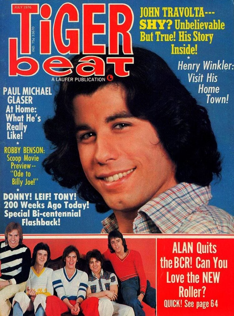 Tiger Beat - July 1976 - John Travolta - Bay City Rollers - Robby Benson - Henry Winkler