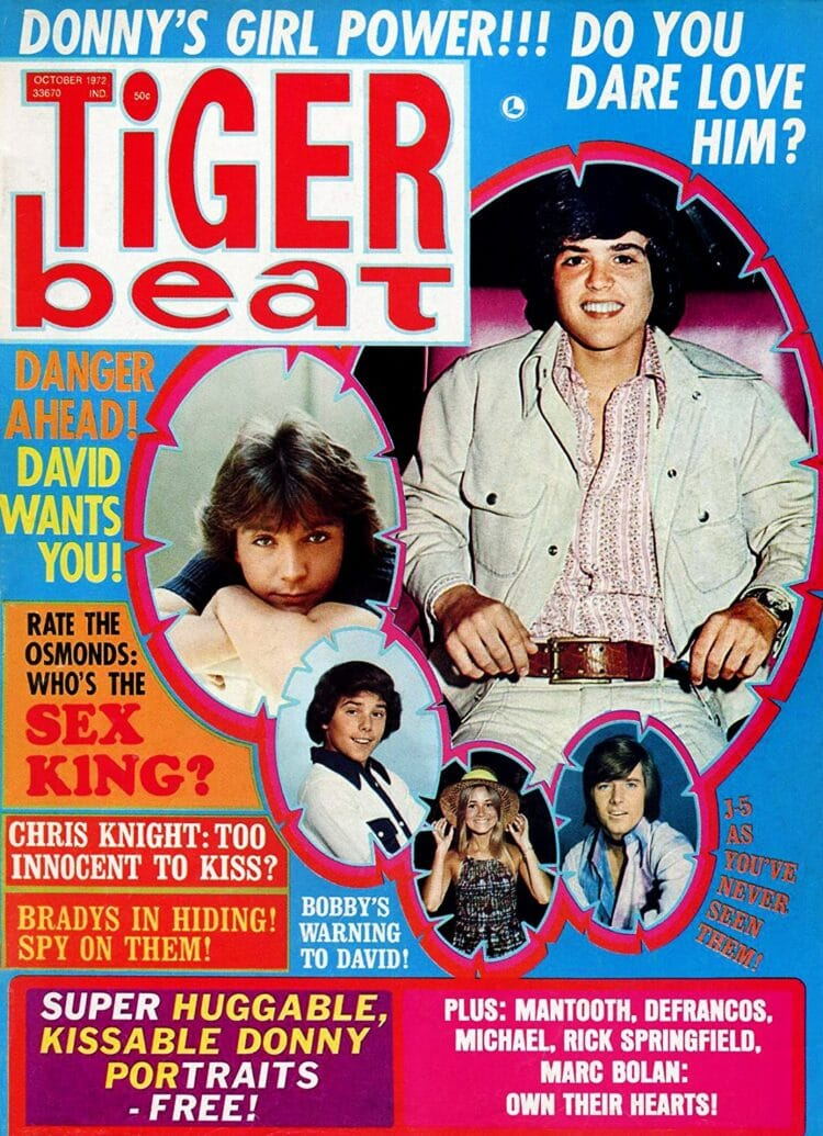 Tiger Beat Magazine - October 1972 - Donny Osmond - Mantooth - Bradys
