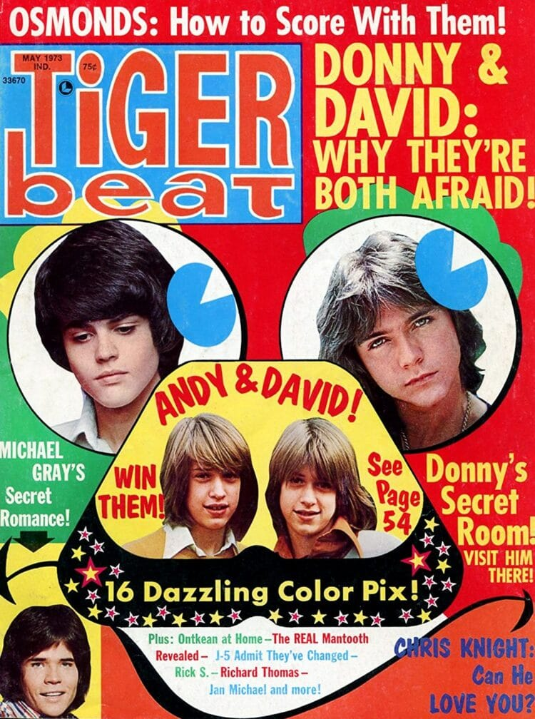 Tiger Beat May 1973 - Donny Osmond - David Cassidy - Chris Knight