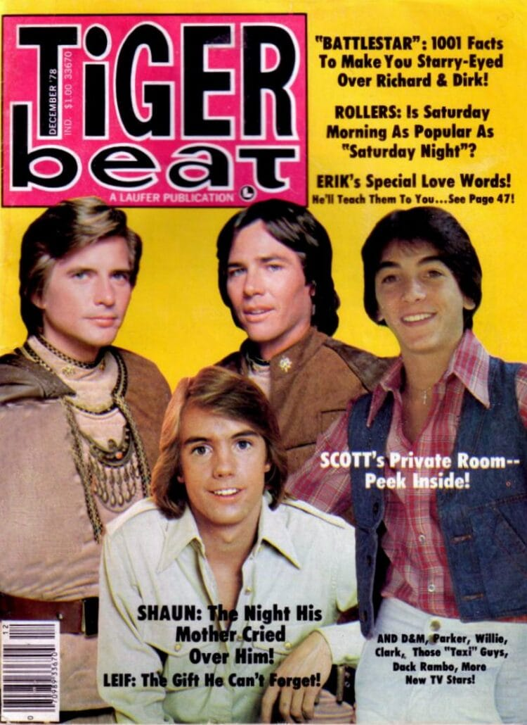 Tiger Beat from 1978 with Shaun Cassidy and Battlestar Galactica
