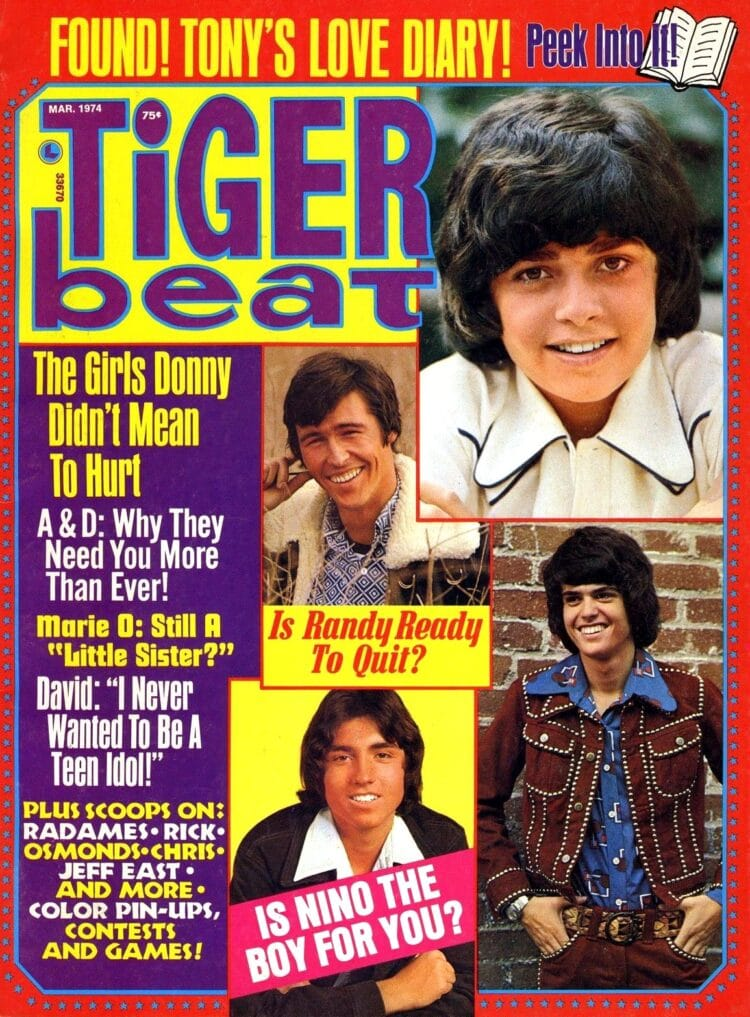 Tiger Beat magazine March 1974 - Randy Mantooth - Nino - Osmonds