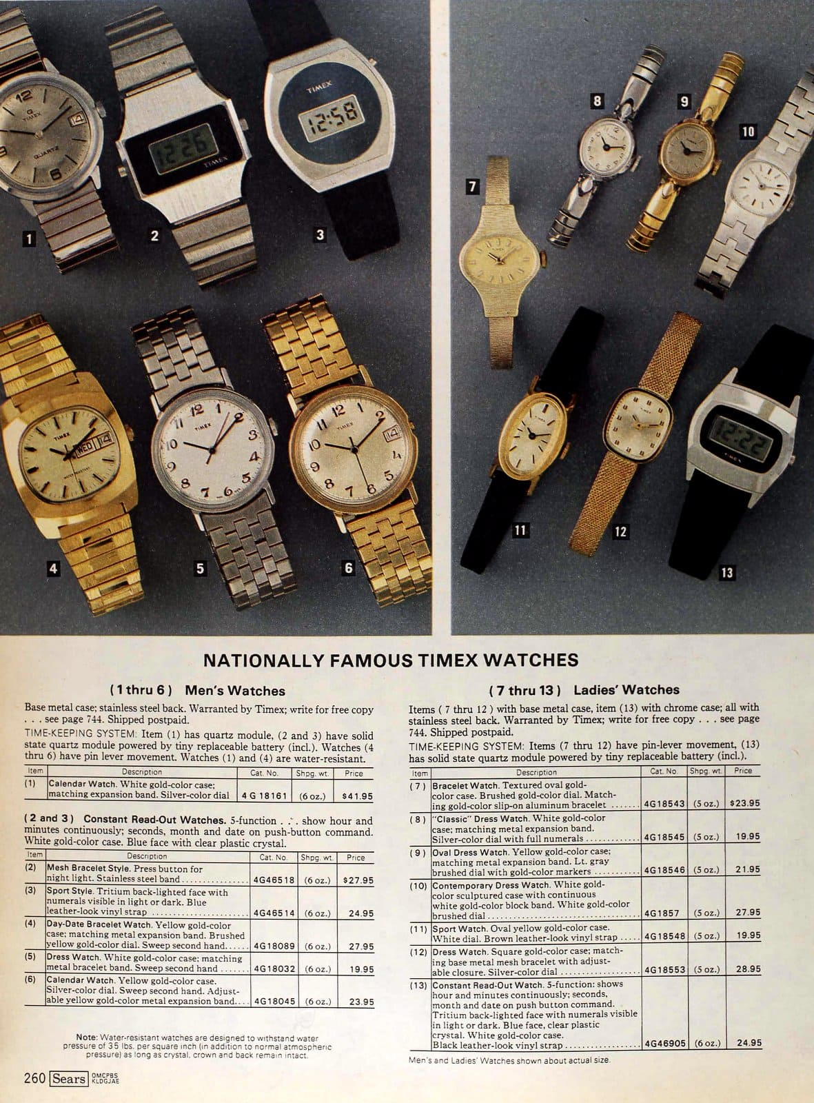 Timex watches from 1979