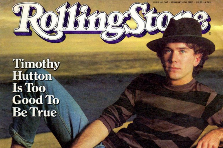 Timothy Hutton on the cover of Rolling Stone Magazine - 1982