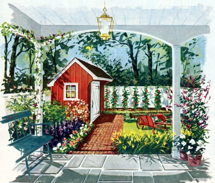 Tiny private gardens and sweet retreats Clever ideas for small outdoor spaces from the 1960s (1)