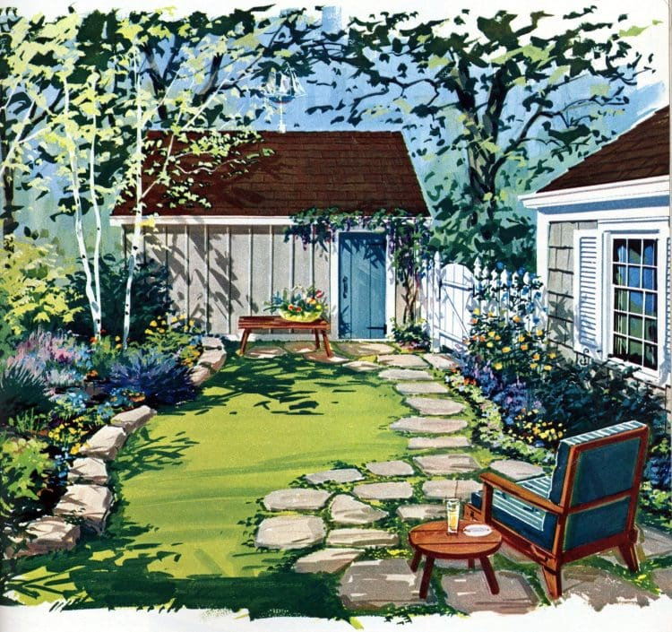 Tiny private gardens and sweet retreats Clever ideas for small outdoor spaces from the 1960s (2)