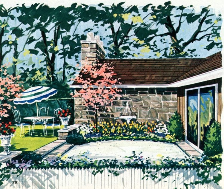 Tiny private gardens and sweet retreats Clever ideas for small outdoor spaces from the 1960s (4)