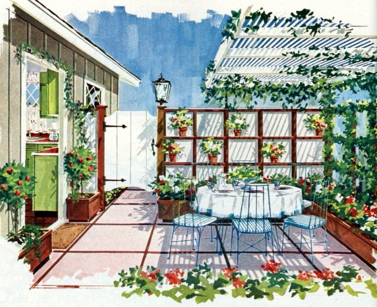 Tiny private gardens and sweet retreats Clever ideas for small outdoor spaces from the 1960s (6)