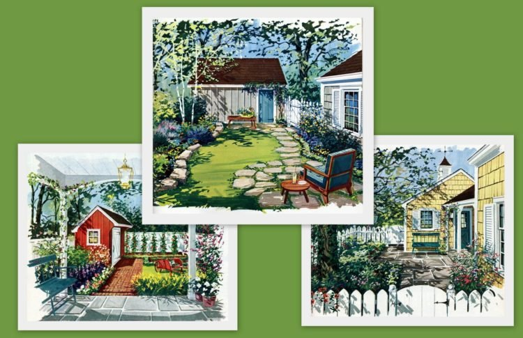 Small gardens & sweet retreats: Clever ideas for secluded outdoor spaces from the 1960s