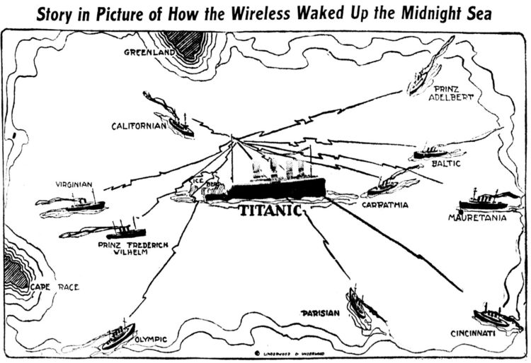 Titanic - How the wireless distress call woke up the midnight sea - 1912