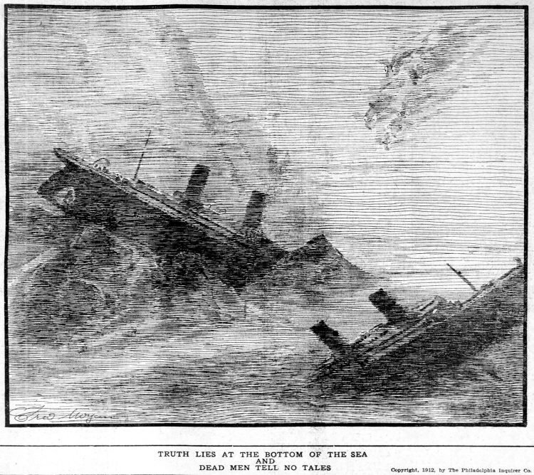 Titanic cartoon Philadelphia Inquirer Mon Apr 22 1912