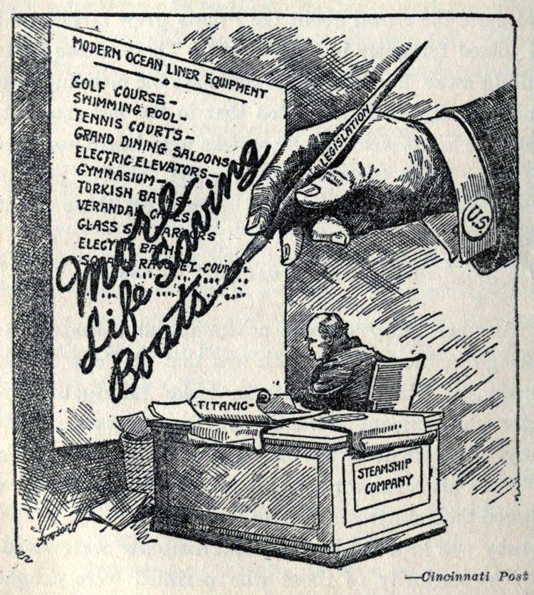Titanic disaster editorial cartoon 1912 (10)