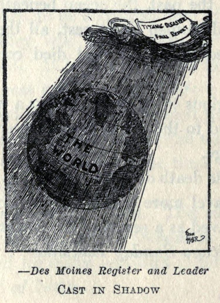 Titanic disaster editorial cartoon 1912 (12)