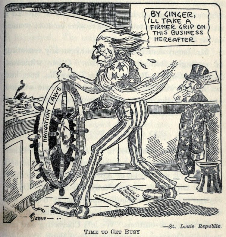 Titanic disaster editorial cartoon 1912 (16)